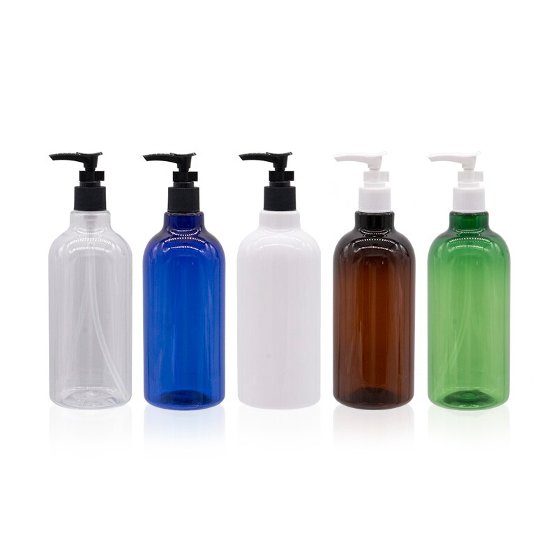 Botellas de bomba de loción de bayoneta de plástico vacío de 500ml para champú, Gel de ducha, acondicionador de pelo, envases cosméticos para mascotas recargables