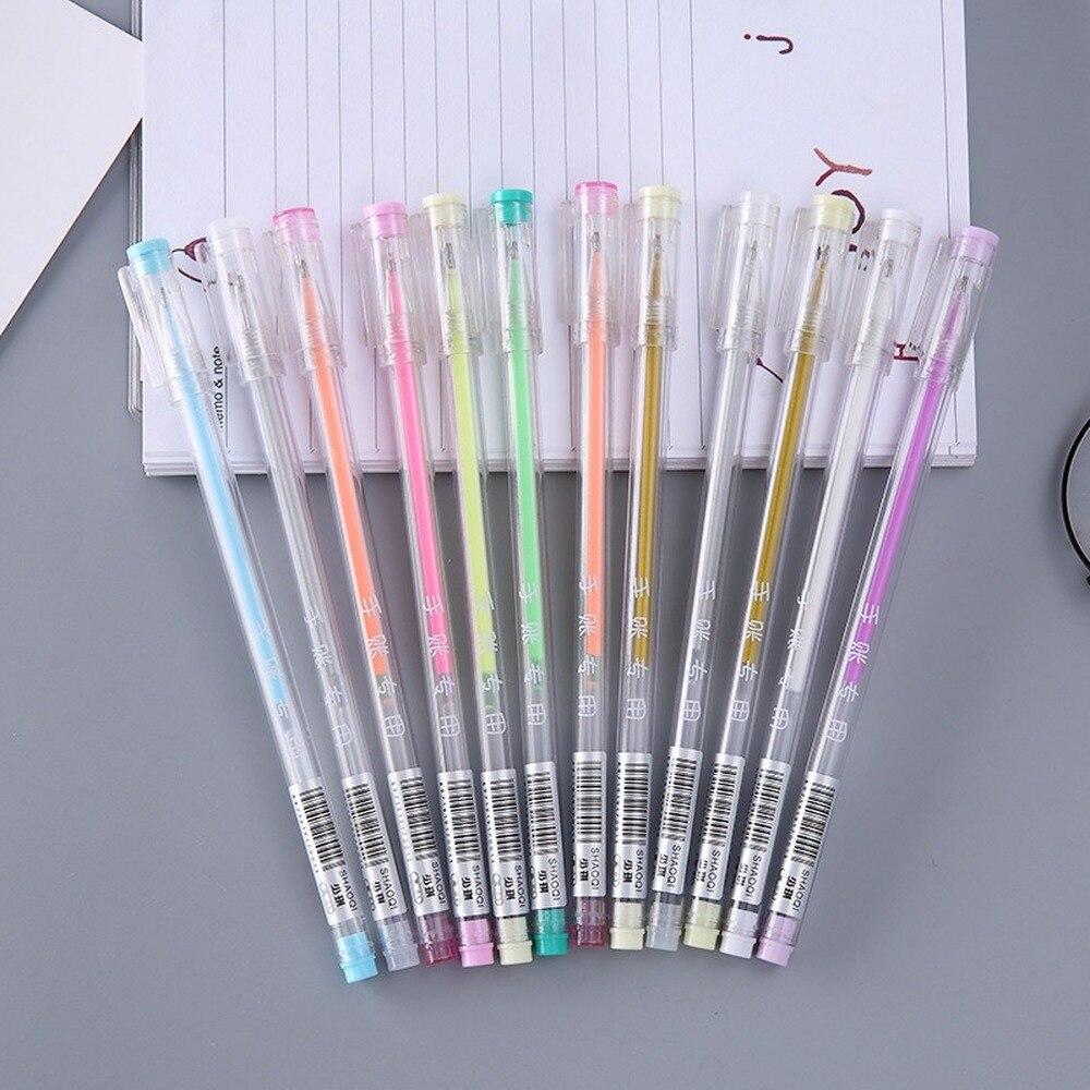24 pçs cor caneta 12 cores mão conta a caneta especial cor estudante prêmios caneta atacado papelaria