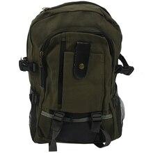 Mochila militar clásico de lona para hombre, mochila de senderismo, bolsa de Camping, verde militar