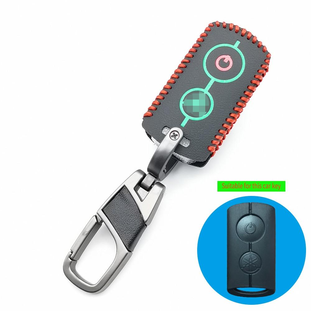Leucht Remote Key Fall Motorrad Leder Schlüsselbund Tasche Abdeckung für Yamaha NVX NVX155 XMAX XMAX300 QBIX JAUNS AEROX 2018 2019