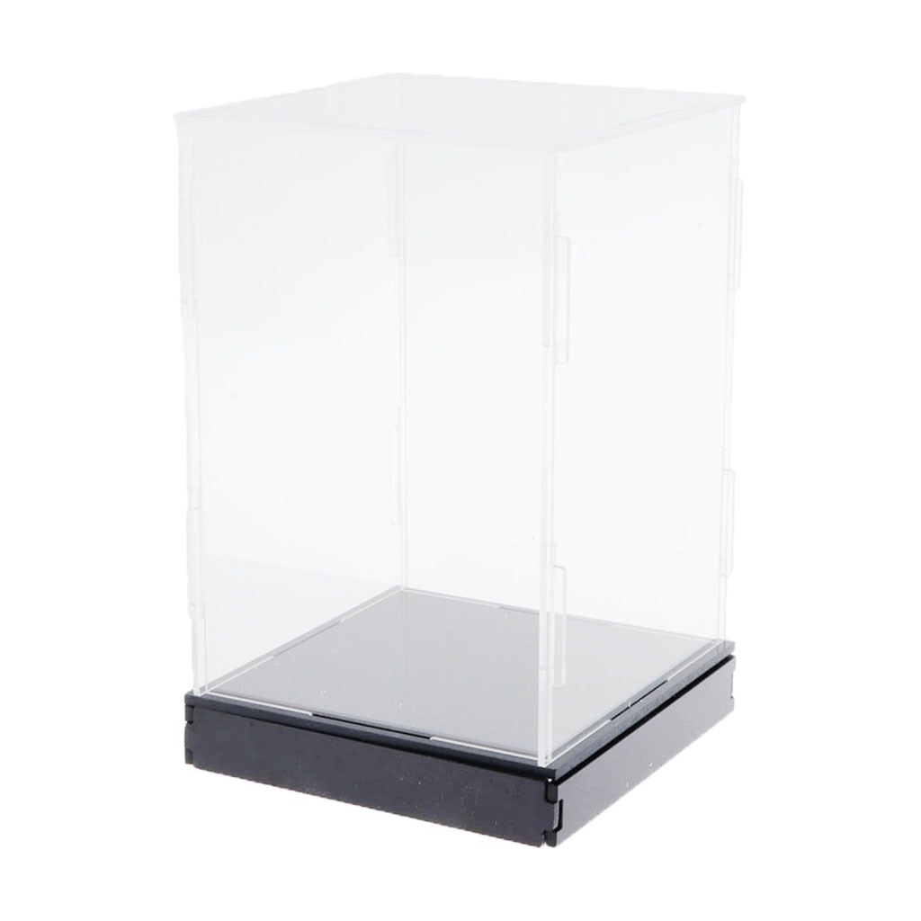 Clear Acrylic Display Box Large Dustproof Toy Doll Car Display Box 2pcs clear acrylic display show case box perspex dustproof protection for figure diecast vehicle doll model figurine collection