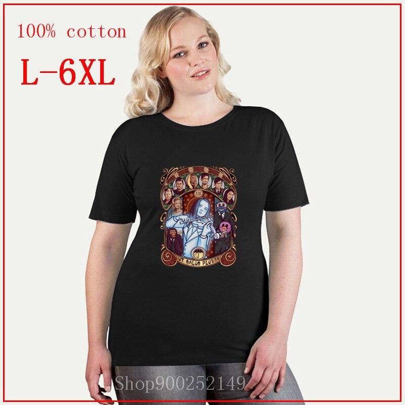 Camisetas Umbrella Nouveau academy hargreaves, camisetas de violín blancas de vanya, de gran calidad, sueltas, de talla grande, 4XL, 5XL, 6XL