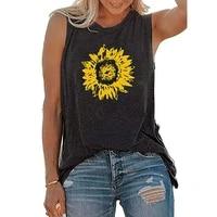 fashion tank top women sexy summer tops women sleeveless scoop neck vest loose fitting sun flower shirts ropa mujer %d1%82%d0%be%d0%bf %d0%b6%d0%b5%d0%bd%d1%81%d0%ba%d0%b8%d0%b9