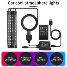 Lumière intérieure de voiture RGB LED bande lumière atmosphère lampes pour KIA Rio K2 Ceed Sportage Sorento Picanto Optima K3 Spectra K5