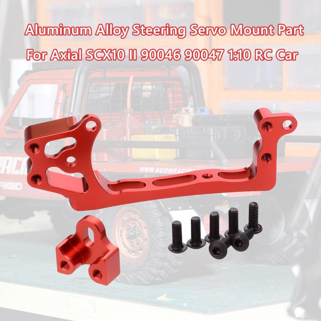 Аксессуары для автомобиля с дистанционным управлением, металлический сервопривод рулевого управления, крепление части для Axial-SCX10II 90046 90047 1...