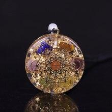 Orgone кулон радужные хрустальные камни для Рэйки, лечение чакры генератор энергии EMF радиационная защита Orgonite ожерелье