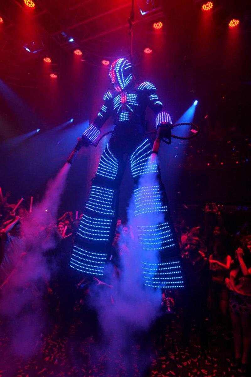 LED Illuminated costume led lighting robot costumes, luminous costumes, led clothing dance costume