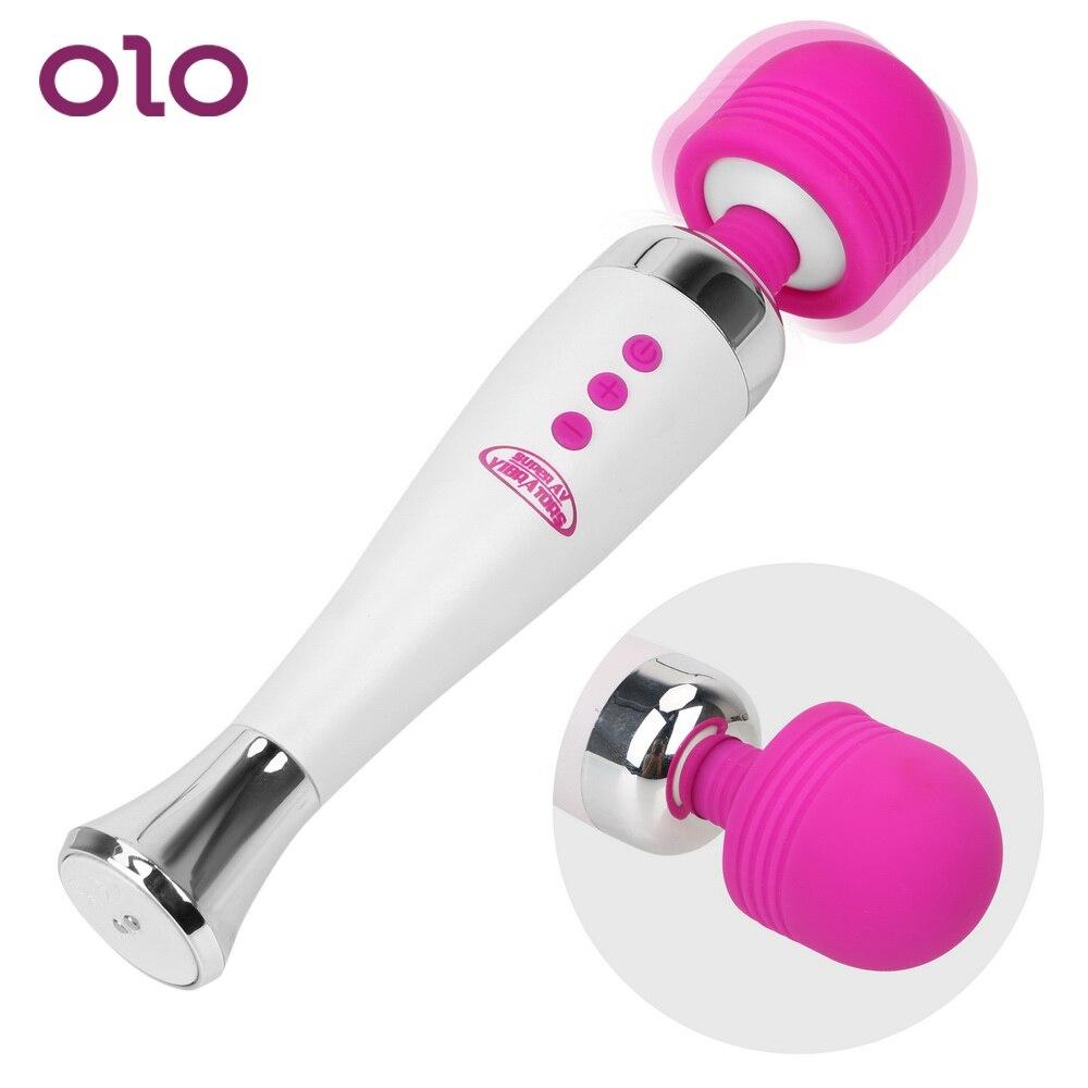Juguetes sexuales OLO para mujeres, del punto G estimulador del clítoris, vibradores masajeadores AV, varita mágica de carga USB de 12 velocidades