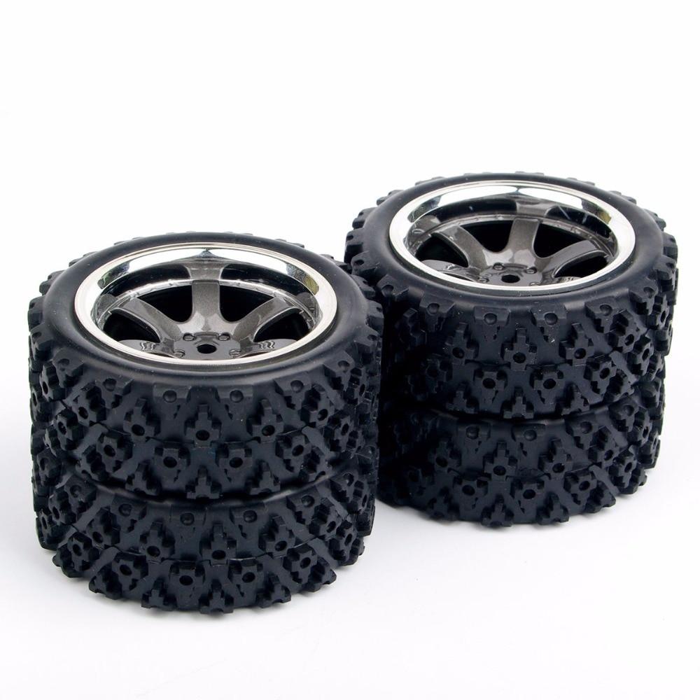 4X RC neumáticos de rally neumático con borde de rueda PP0038 +...