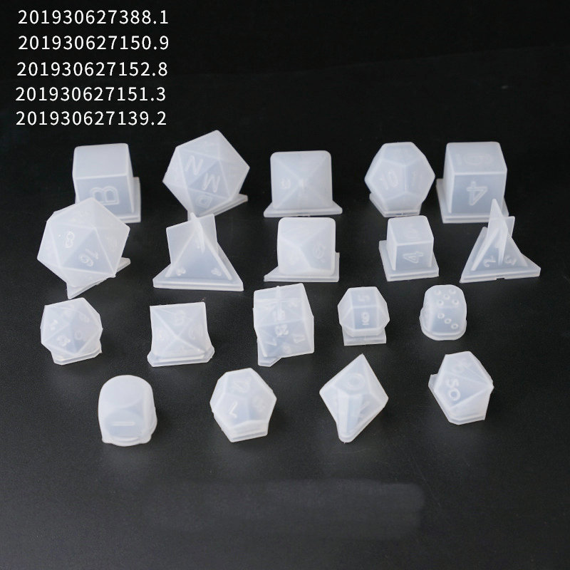 Dado DIY filete Multi-especificación molde de silicona hallazgos de joyería colgante accesorio encantos hecho a mano epoxi cabujón de resina artesanal