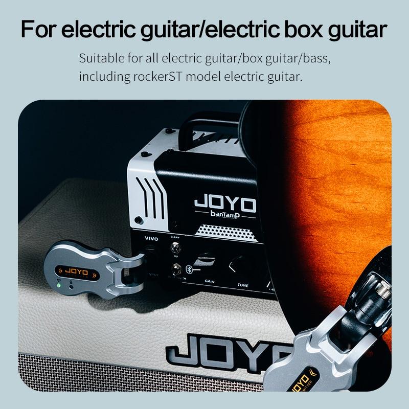 JOYO  5.8G HZ  Wireless Guitar System Audio Transmission Transmitter Receiver Built-in Battery for Guitar Bass  20 Meters  Range enlarge