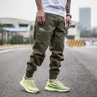 japanese vintage fashion men jeans big pocket casual cargo pants men overalls printed designer streetwear hip hop joggers pants