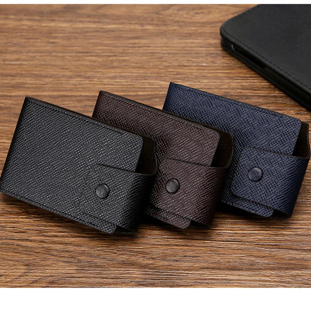 1 pieza de cuero de Pu nuevos portatarjetas de identificación para mujeres y hombres Cartera de bloqueo RFID de negocios Delgada funda de tarjeta de crédito