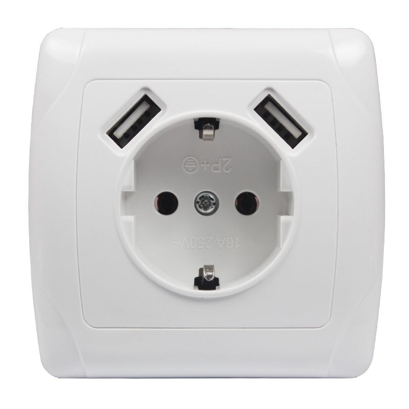 aliexpress.com - Wall USB Socket Smart Outlet Double USB Port 5V 2A Usb Fast enchufes para wall outlet usb outlet steckdose A010