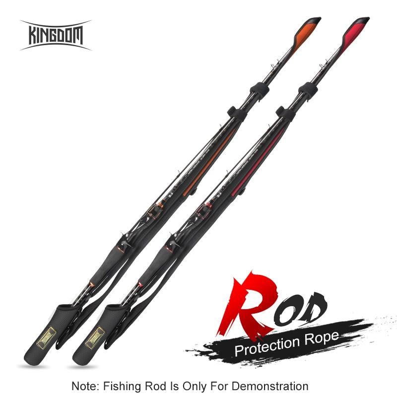 Рыболовные Спиннинговые удилища Kingdom 102-152 см, защитный шнур для кастинговой удочки с регулируемой длиной для защиты удочек, сумка для хранен...
