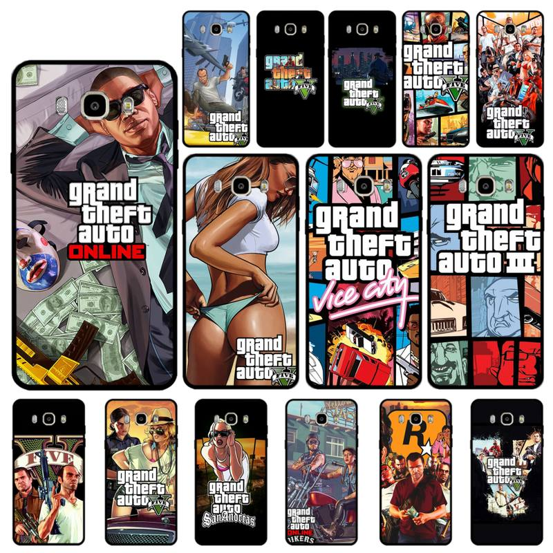 MaiYaCa GTA Grand Theft Auto Racing shooting Game Phone Case for Samsung J 4 5 6 7 8 prime plus 2018 2017 2016 J7 core