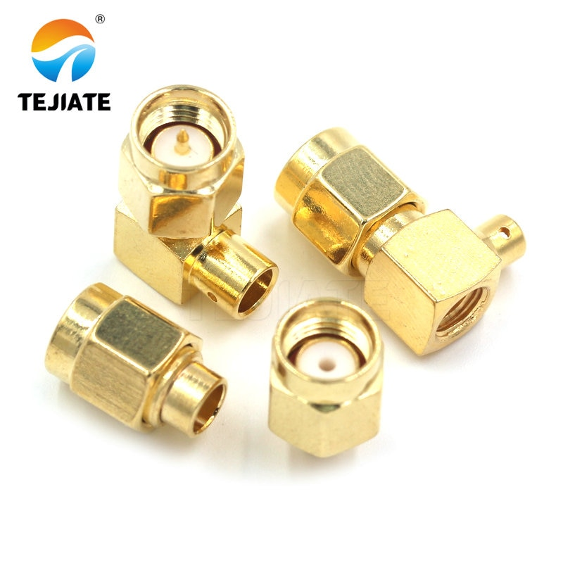 1PCS SMA JB2/JB3 JWB2/JWB3 Connector Male Header Srtaight/Bent Header Half  Flexible Steel Welding Adapter Match For RG402/405