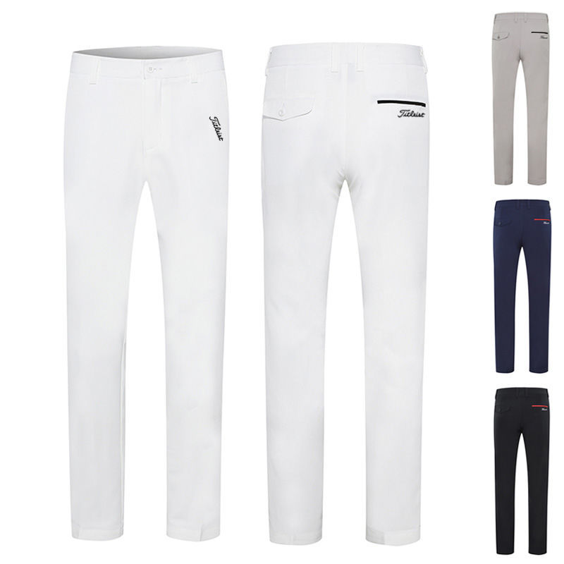 Men's Golf Clothing Breathable PANTS Outdoor Casual 100% Polyester Custom Blank Fashion Colorful Men Golf Trousers