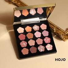 2020 HOJO maquillage fard à paupières Palette pinceaux de maquillage 16 couleurs miroitant pigmenté ombre à paupières Palette maquillage Palette cosmétiques TSLM1