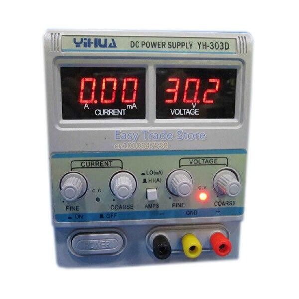 مزود طاقة منظم لإصلاح الهاتف الخلوي YIHUA 303D ، 30 فولت ، 3 أمبير ، تيار مستمر قابل للتعديل