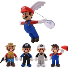 13cm Super Mario Figuren Spielzeug Super Mario Bros Mario Maker Winkel Mario PVC Action Figure Modell Puppen Spielzeug