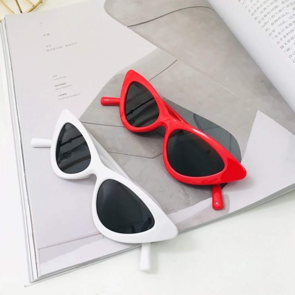 Small Frame Cat Eye Children Sunglasses Baby Cateye Plastic Frame Kids Boys Grils Sun Glasses Child Goggle Cute Unique UV400