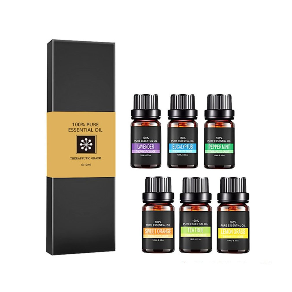 6 botellas de aceites esenciales 100% aromaterapia Natural pura difusor de Aroma terapéutico quemador de aceites esenciales