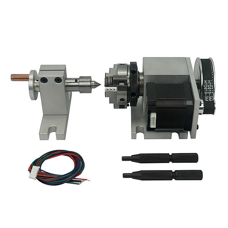 Portabrocas CNC de 4 ° eje 50mm mesas de eje rotatorio para máquinas CNC