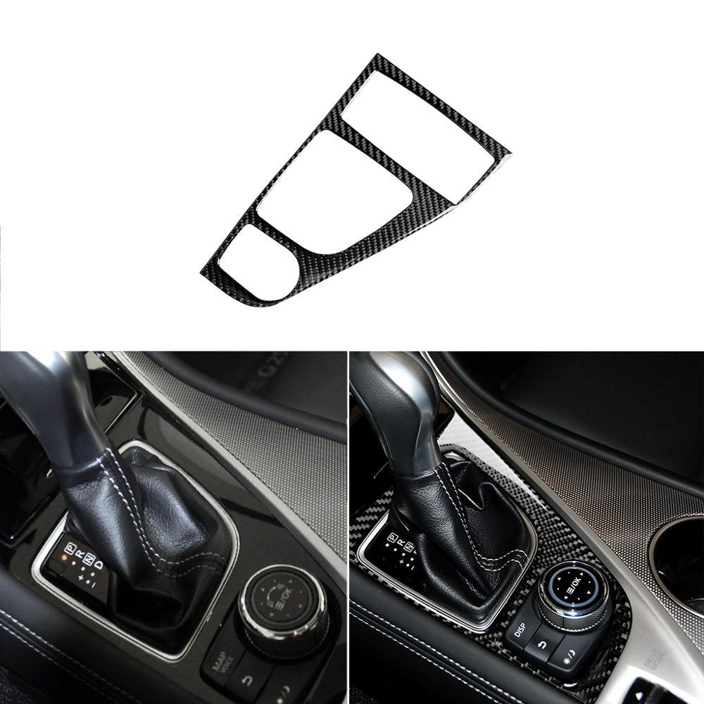 Para LHD Infiniti Q50 Q60 2014-2019 fibra de carbono coche gearshift panel pegatina decorativa cubierta de transmisión interior