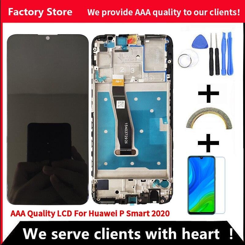 10-اللمس AAA جودة LCD لهواوي P الذكية 2020 LCD مع الإطار LCD شاشة عرض ل P الذكية 2020 LCD عرض مع الإطار