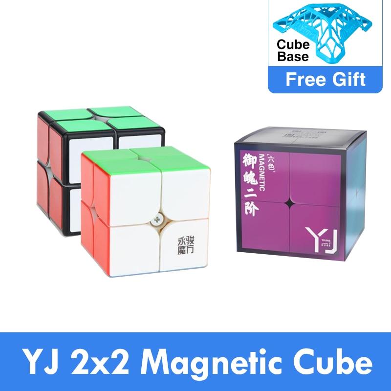Original Yongjun Yupo v2 M 2x2x2 Magnetic Cubing Speed 2x2 2M Magic Cube Puzzle Professional Educati