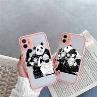jujutsu kaisen phone case for iphone 12 11 mini pro xr xs max 7 8 plus x matte transparent pink back cover