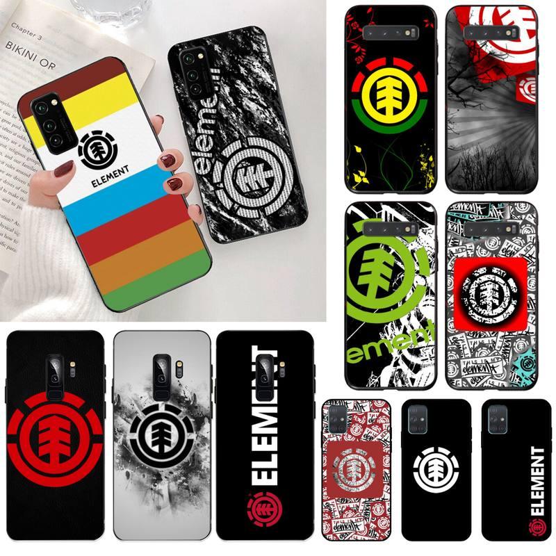 Hpchcjhm elemento skate vida skate deck telefone caso capa para samsung s20 plus ultra s6 s7 borda s8 s9 mais s10 5g lite 2020