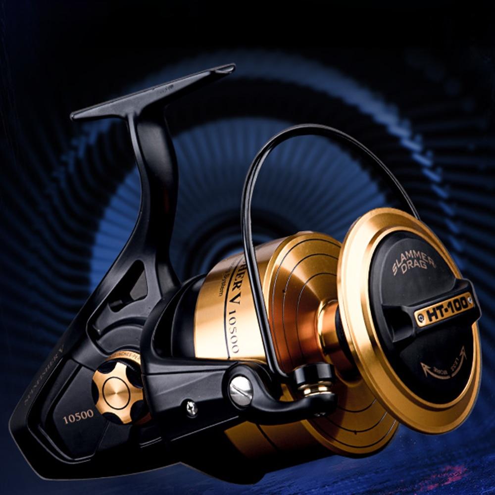 Original PENN SPINFISHER V SSV 3500-10500 Spinning Fishing Reel 5+1BB Full Metal Body HT-100 Saltwater Boat fishing reel Wheel enlarge