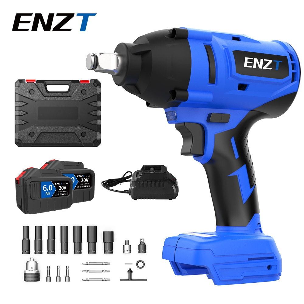 ENZT 600N.M Brushless Cordless Electric Impact Wrench 1/2 inch Power Tools Adapt to Makita Batterry Auto Repair Wrench