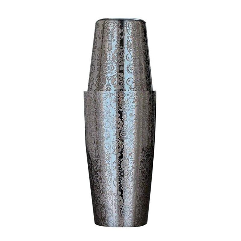 Качественный шейкер для коктейлей Бостонский шейкер 304 нержавеющая сталь Барра де ферраментас креативный гравировальный дизайн Бостонски...