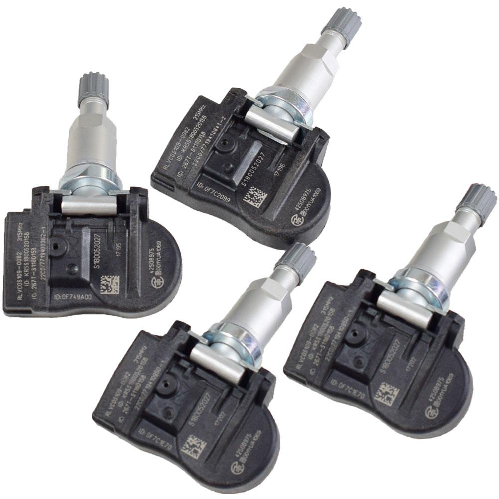 4 Uds 315Mhz Sensor de monitoreo de presión de neumáticos Sensor TPMS para Mitsubishi Lancer Outlander Sport Mirage 4250B975 accesorios de coche