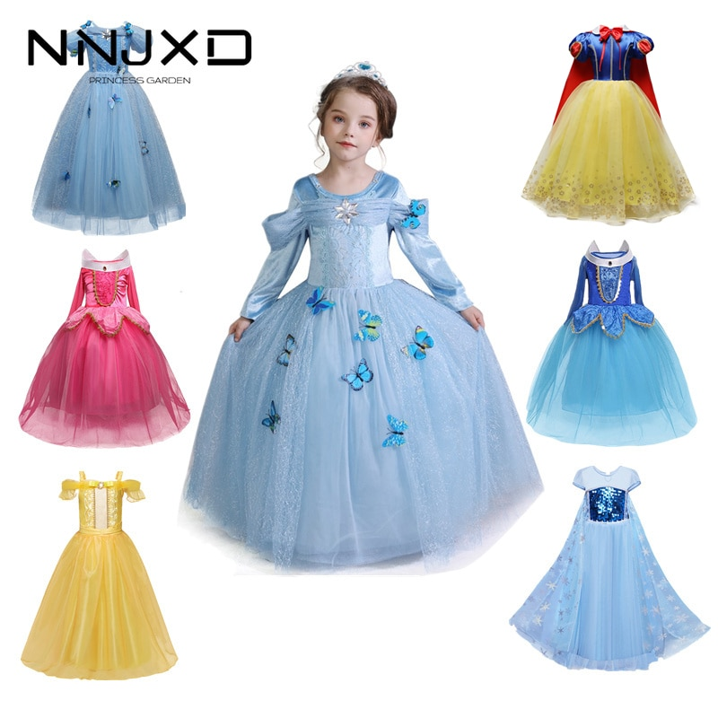 Girls Party Dress Up Princess Costume Kids Halloween Cosplay Costume Baby Girl Princess Dress Christ