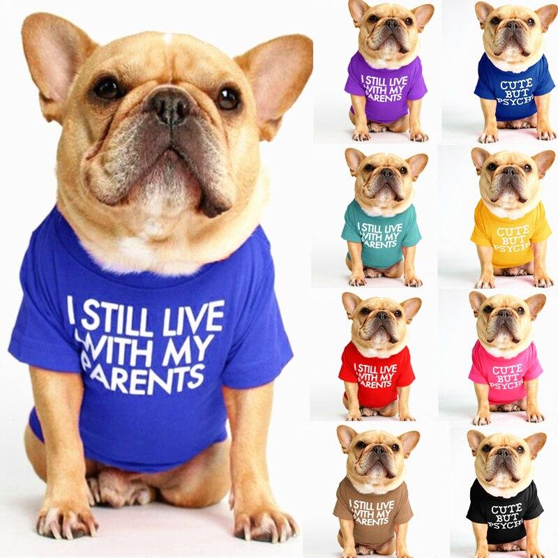Haustier Hund Kleidung für Katze Weste Kleidung Für Kleine Hunde Katzen Tier Baumwolle Mode Kleidung Französisch Bulldog T-shir chihuahua Bekleidung