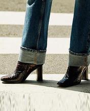 Femmes sur genou bottes hautes talons hauts Plaid Chaussure gladiateur bout pointu à lacets chaussures simples femme Zapatos Mujer SapatoTW037