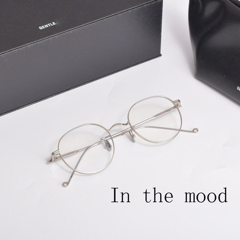 نظارات طبية مستديرة من سبائك التيتانيوم للرجال والنساء ، تصميم ماركة كورية ، إطارات موصوفة طبيًا ، 2020
