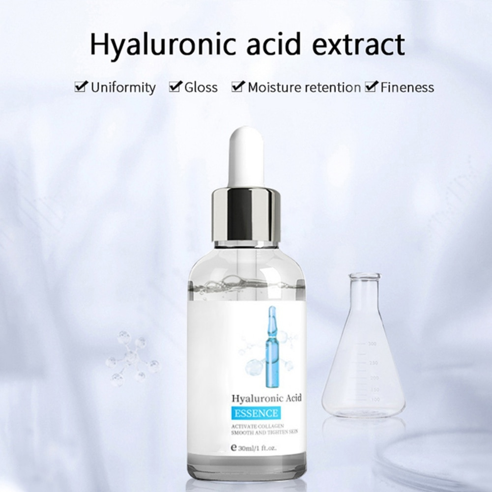 30ml Hyaluronic Acid Face Serum Moisturizing Whitening Anti-Wrinkle Anti-Aging Facial Skin Care Relieve Dryness Face Serum fteenply facial serum astaxanthin stock solution concentrate hyaluronic acid concentrate whitening repair sunscreen face serum