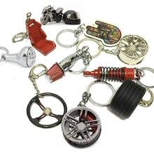 Heißer Große geschenk für JDM racing fans Fahrer Wakaba Mark Auto Keychain Auto Teil Modell Schlüssel Kette Ring Schlüssel Fob auto Keychain für Männer
