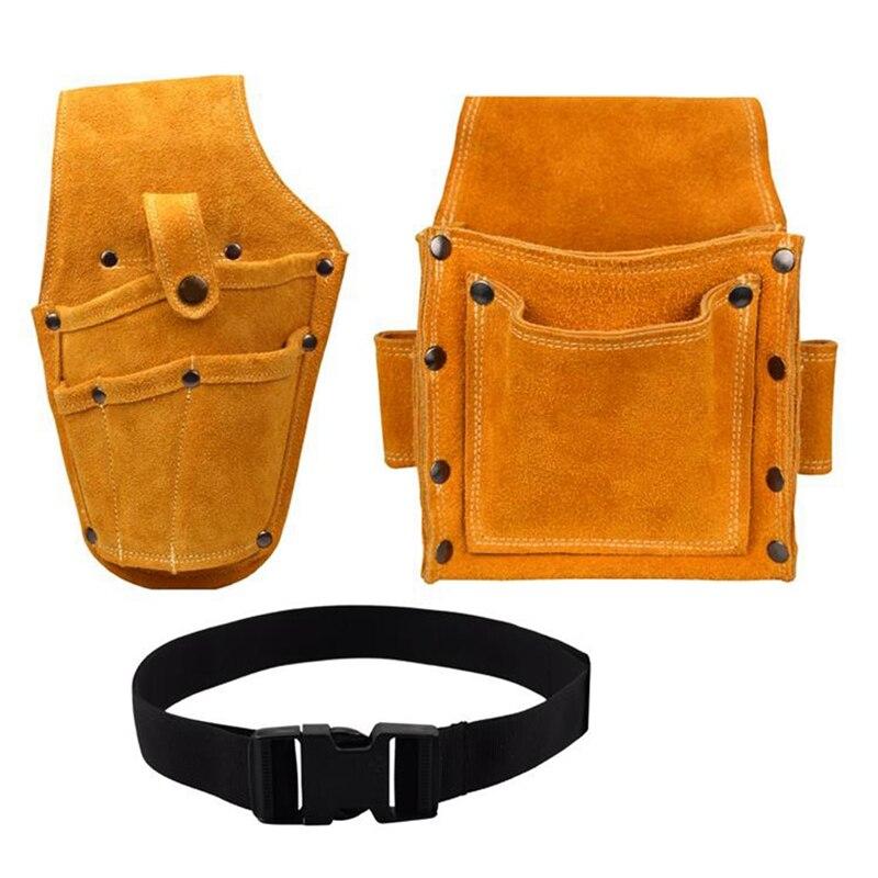 Портативная поясная сумка для дрели, винтов и гвоздей, металлические детали для дрели, дорожные сумки для хранения инструментов с ремнем