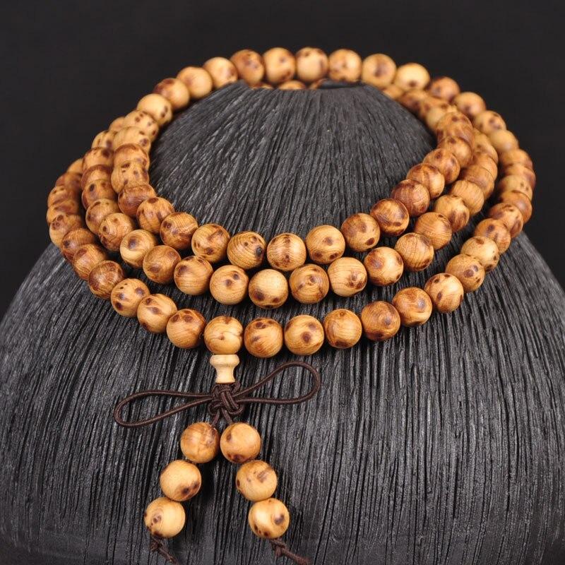 Arborvitae Wooden108 budista oración con cuentas pulsera de madera brazalete de Buda collar de joyería
