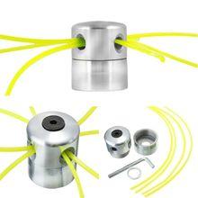 Universel en aluminium pilier ligne scie à chaîne herbe brosse coupe gazon tête tondeuse à gazon coupe tête fil ligne scie à chaîne