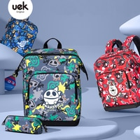 High-grade UEK School Bag For Girls Boys New 3D Cute cartoon Pattern Waterproof Orthopedic Backpack Schoolbag Mochila Escolar
