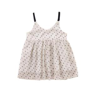 Girls Cute Dress baby girl clothes Toddler Baby Girls Sleeveless Dot Print Dress Girls Princess party Dress Casual 1-5Y