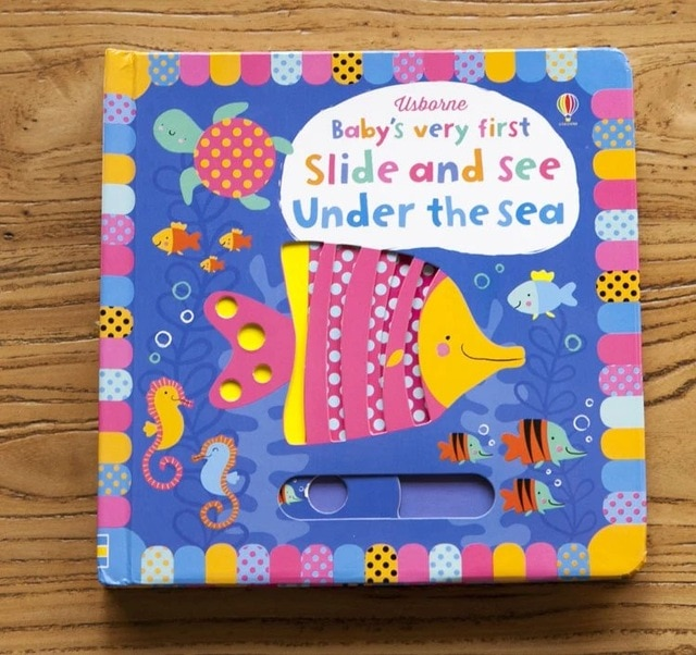 Britain English 3D Baby's very first slide and see under the sea flip hole picture board book kids early education