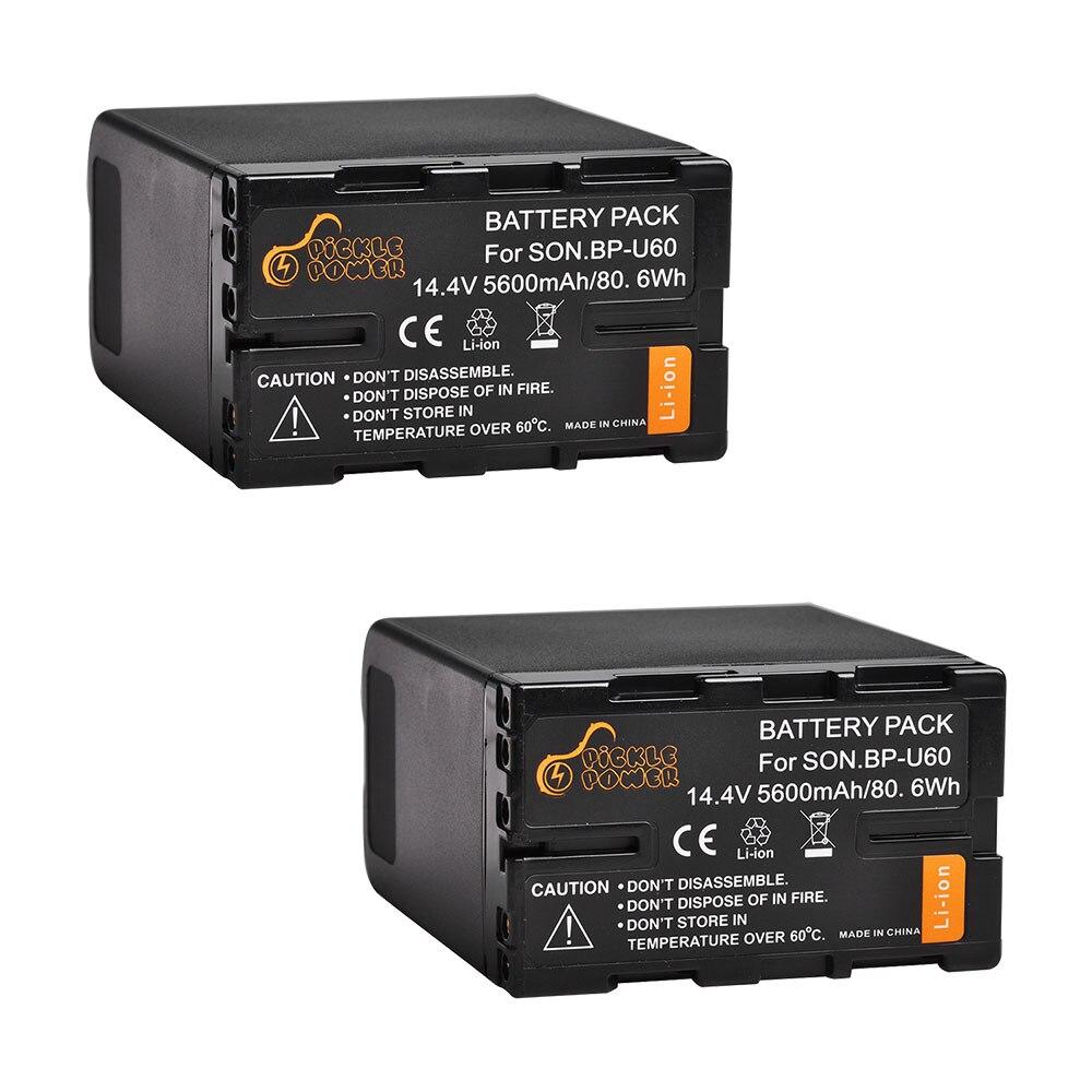 2 uds 5600mAh BP-U60 BP U60 BPU60 BP-U90 batería para Sony PMW-100...